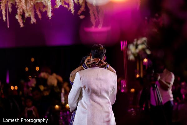 Raja and Maharani during their first dance.