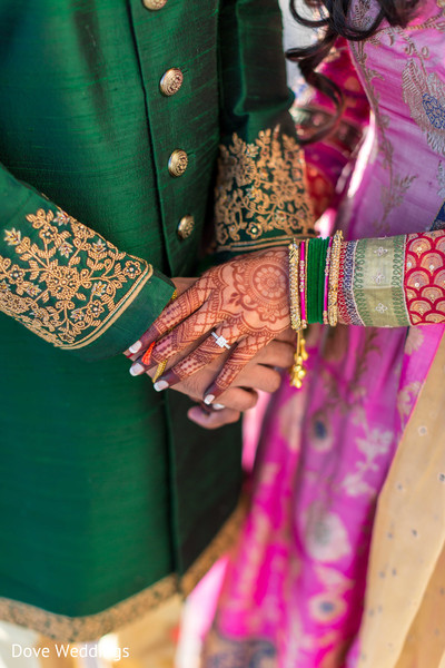 Cute Indian couple holding hands.