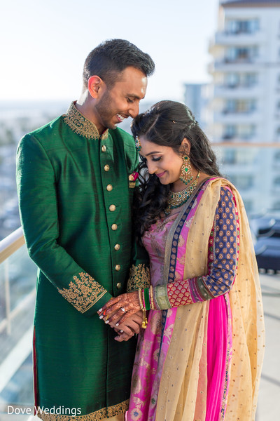 Adorable Indian couple at photo shoot.