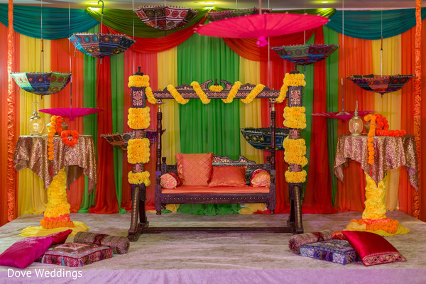 Colorful stage set up decoration.