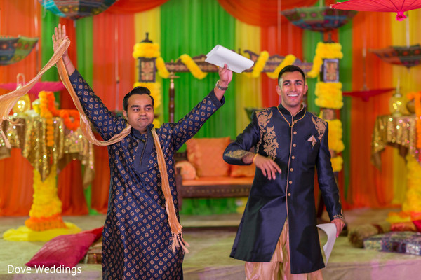 Elegant and joyful Indian groomsmen.