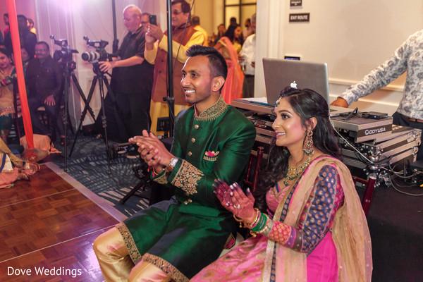 Joyful Indian couple at Sageet.