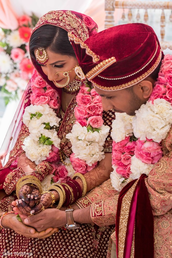 Gorgeous Indian couple at their wedding ceremony.