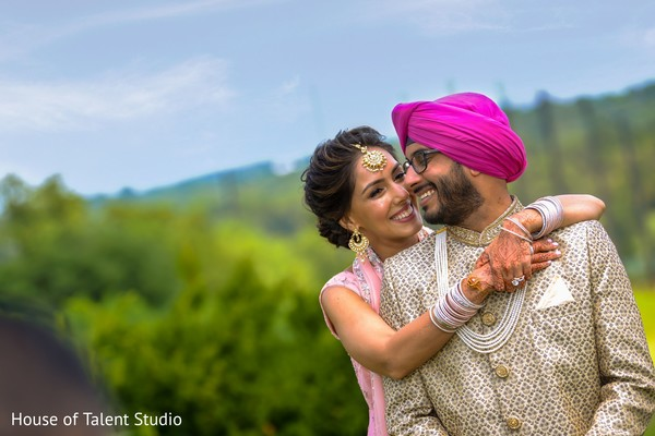 Adorable capture of Indian bride and groom.