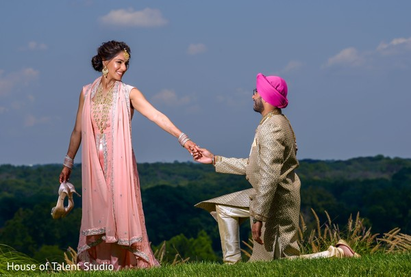 Dreamy Indian couple outdoors capture.