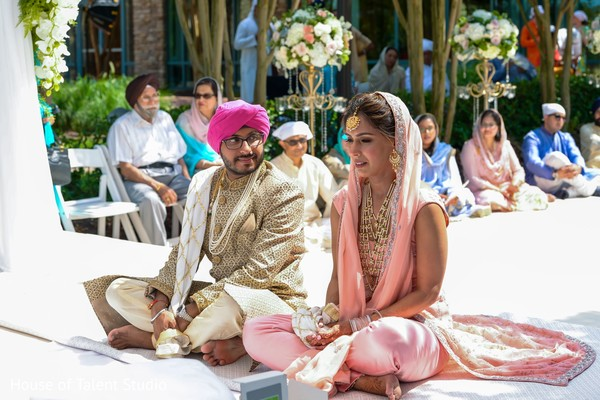Take a look at this indian Sikh wedding ceremony ritual.
