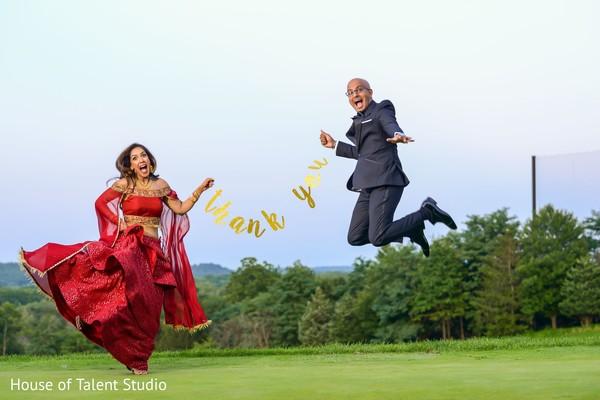 Incredible Indians couple thank you photo.