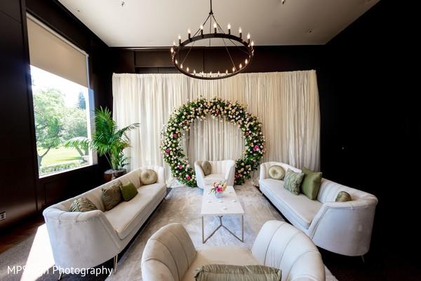 Floral arrangement details of the venue.