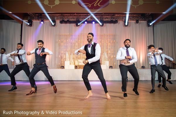 Upbeat indian wedding reception performance