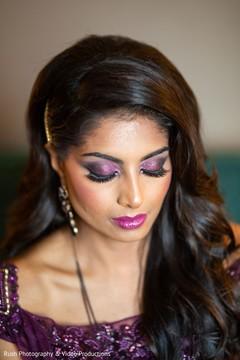 Flawless maharanis Indian wedding reception makeup.