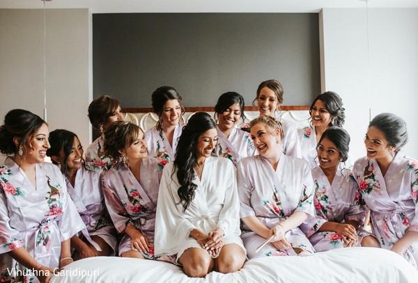 Beautiful maharani and bridesmaids sharing some quality time.
