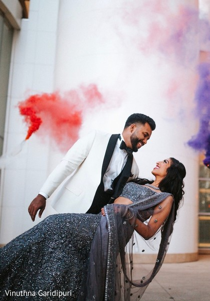 Charming Indian couple in amazing photo shoot.