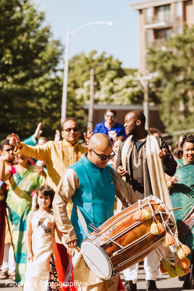 Dhol player during baraat.