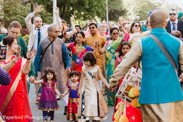 Traditional indian groom's baraat procession.