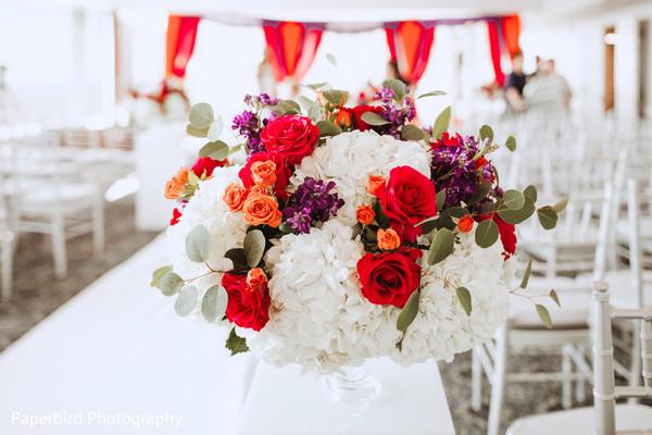 Indian wedding ceremony floral decor.