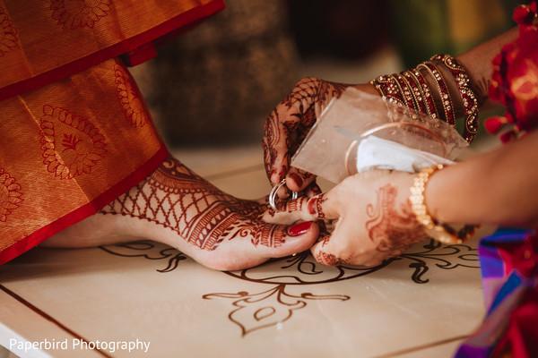 Maharani at her Bichiya ritual.