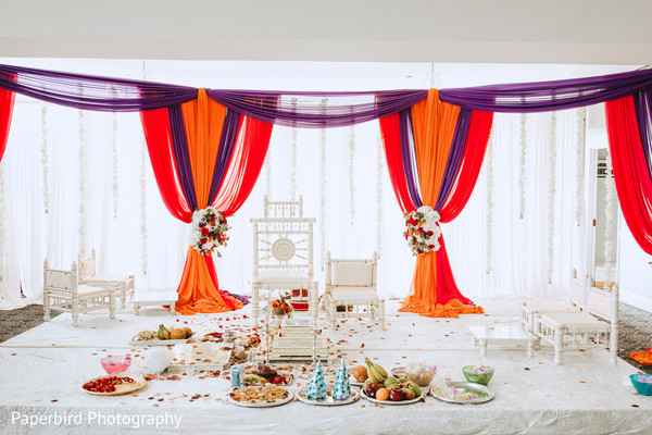 Incredible Indian wedding ceremony mandap decorations.