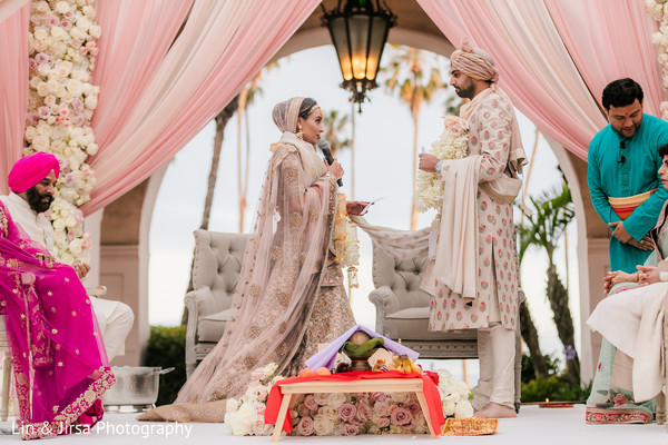 Indian bride and groom getting married.