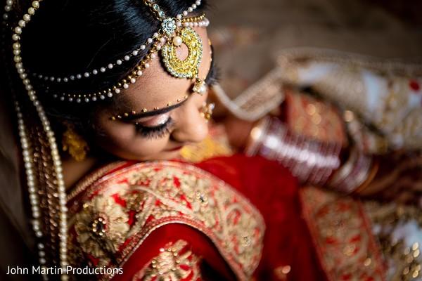 Enchanting Maharani ready for the ceremony.