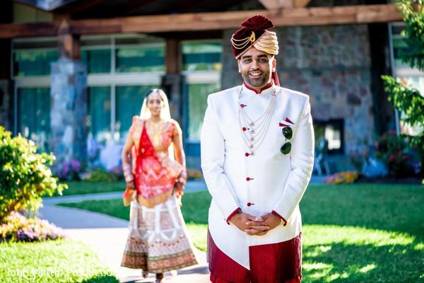 Majestic Indian groom waiting for his Maharani.