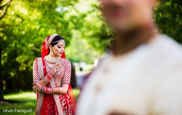 Dazzling indian bride photography