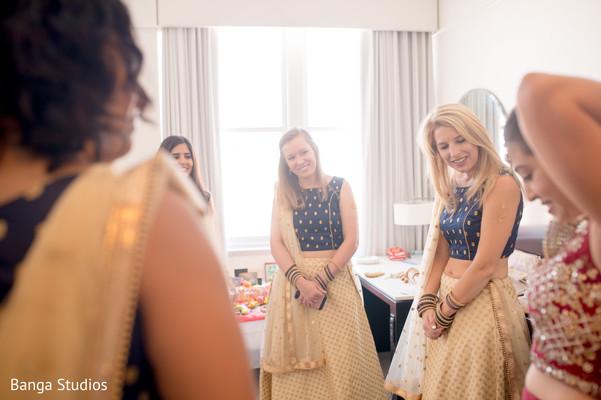 Bride and bridesmaids looking dazzling.