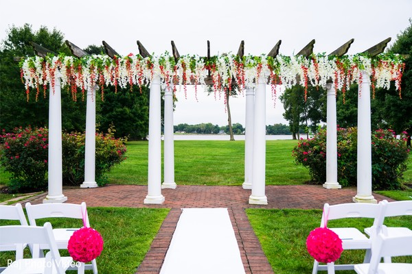 Floral decor of the mandap.