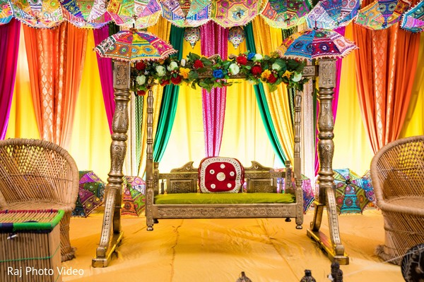 Indian wedding venue decor.