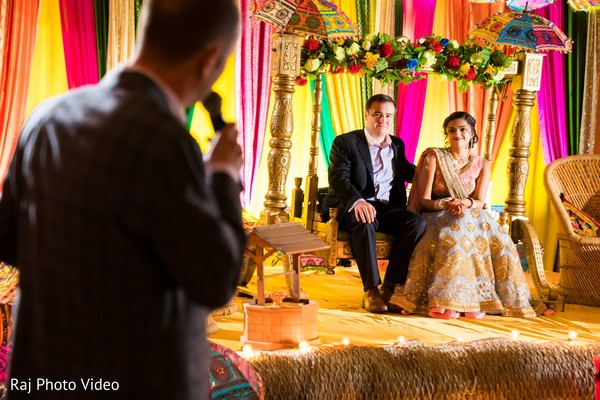 Indian bride under the mandap.