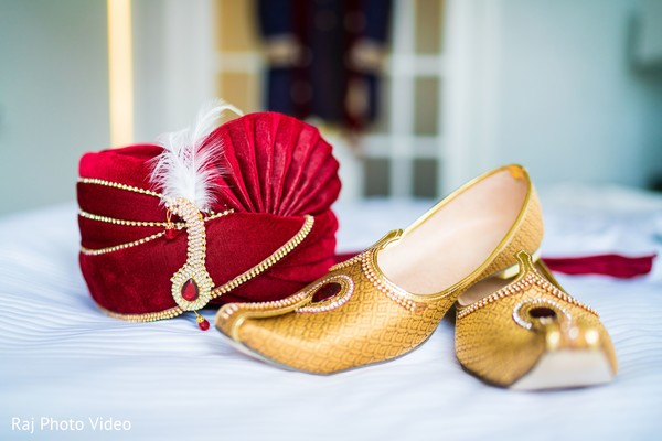 Indian groom's fashion items.