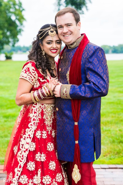 Charming Indian couple in photo shoot.