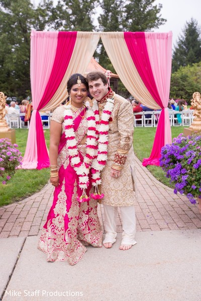 Just married Indian couples photo.