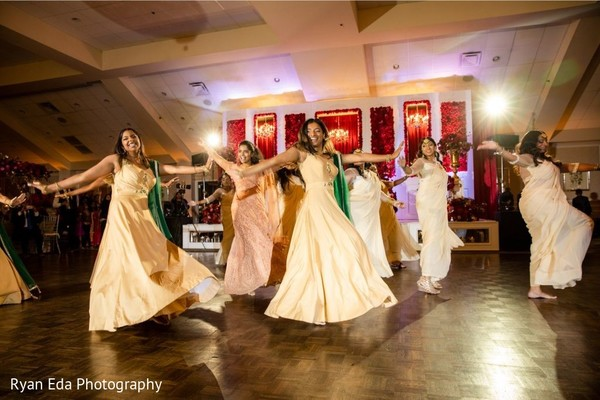 Upbeat Indian wedding reception choreography.