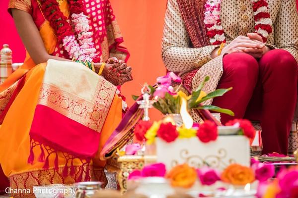 Indian wedding sacred fire capture.