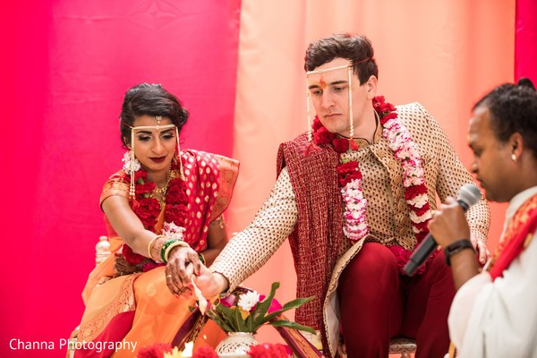 Take a look at this traditional Indian wedding ceremony ritual.