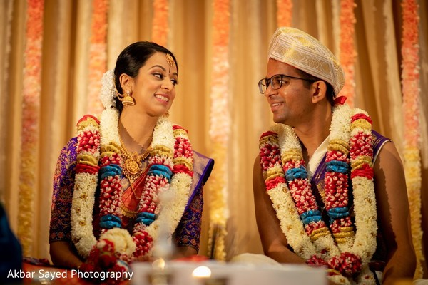Traditional indian bride and groom's ceremony