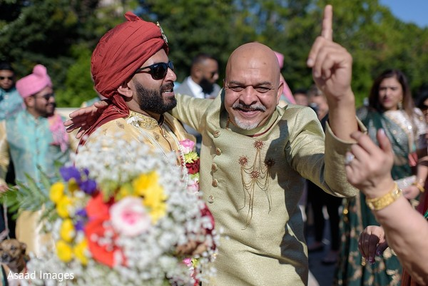 Indian groom and his father.