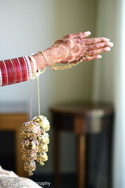 Indian bridal ceremony  chooras, kalire and Hathphool.