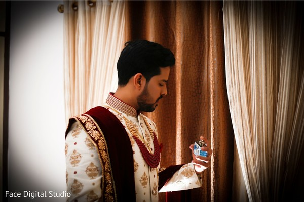 Indian groom prior to the ceremony.