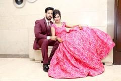 Indian bride and groom looking fantastic.