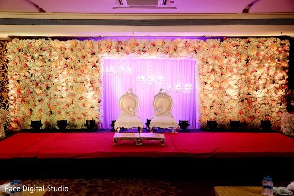 Indian wedding floral decor.