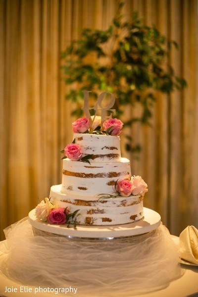 Indian wedding cake details.