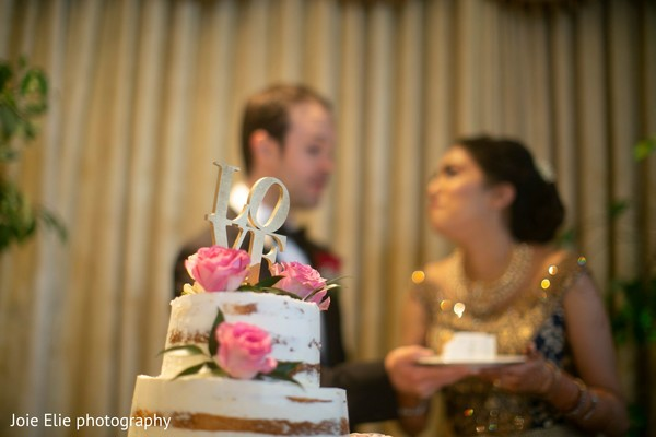 Lovely couple during the cake-cutting time.