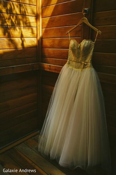 Dreamy Indian bridal wedding dress.
