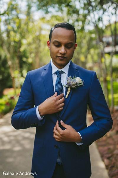 Charming indian groom capture
