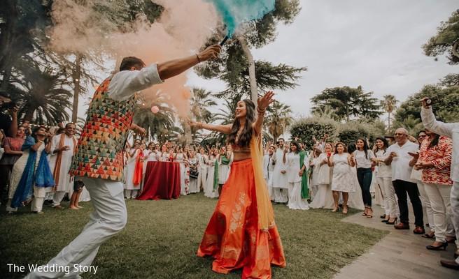 Indian couple pre-wedding dance.