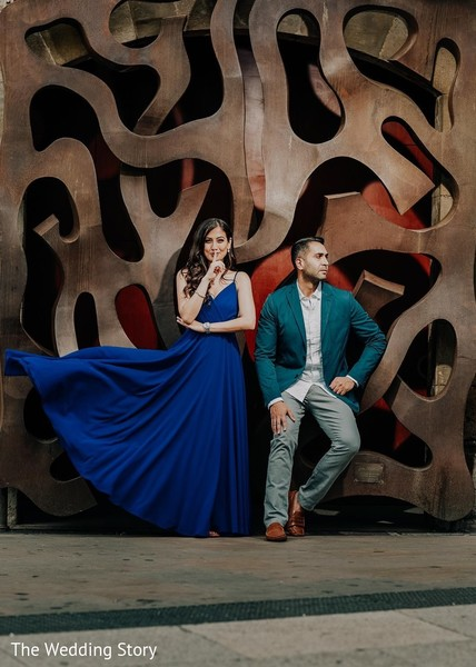 Creative indian couple's photo session.