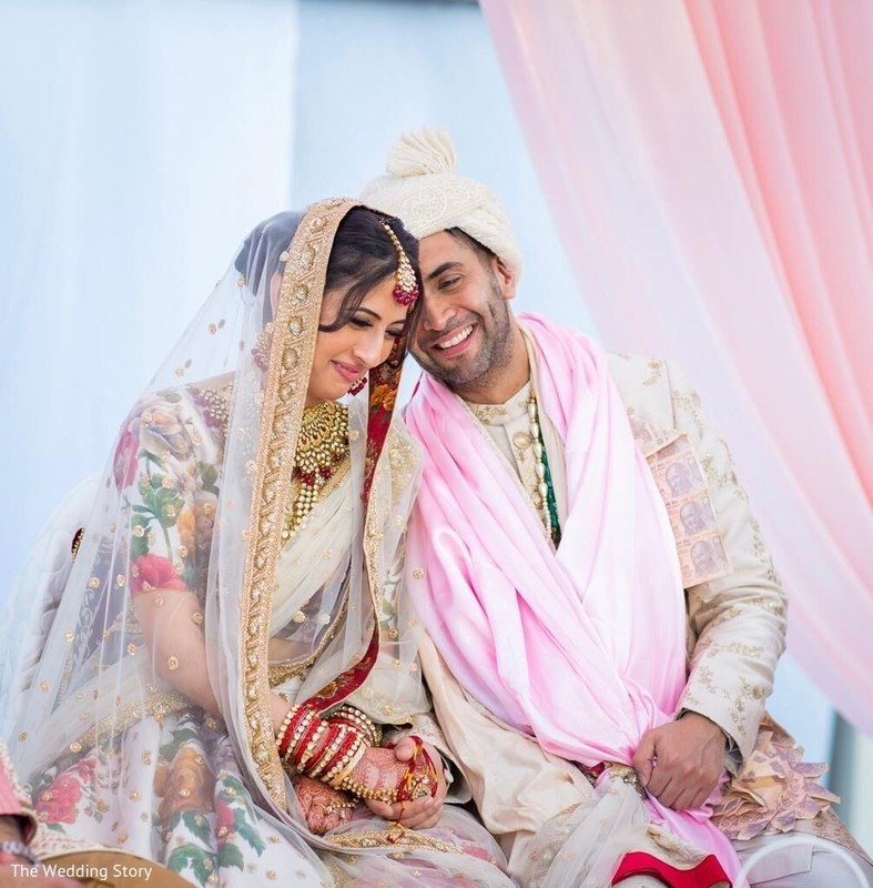Sweet Indian lovebirds at ceremony capture.
