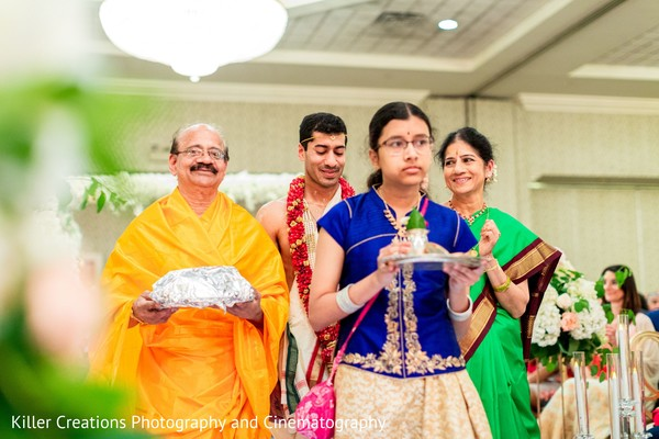 Take a look at this Dwar Puja for Indian groom.