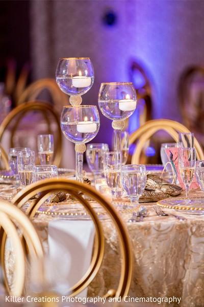 Incredible Indian wedding table centerpiece.
